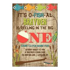 the big one fishing theme boys first birthday card zazzle com