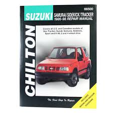1986 1998 suzuki samurai sidekick tracker chiltons repair manual