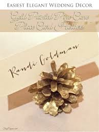 place cards diy diy wedding decor gold pine cone place card holders