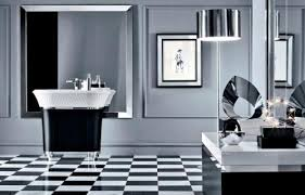 black and white bathroom design inspirations with black and white