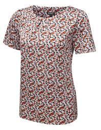 shell blouse s work print blouses shell tops uk s