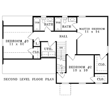 colonial style house plan 3 beds 2 50 baths 1250 sq ft plan 81