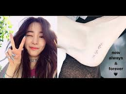 check out snsd tiffany u0027s new tattoo youtube