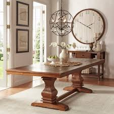 Extendable Dining Tables by Atelier Burnished Brown Pedestal Extending Dining Table By Inspire
