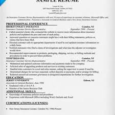 Insurance Resume Format Patient Service Representative Resume Template Resume Builder
