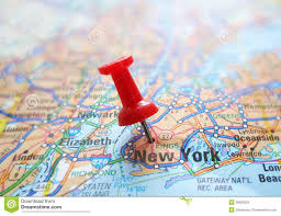 New York City On A Map by Nyc Map Stock Photo Image 39929233