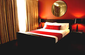 Ideas For A Red And Black Bedroom Modern Red And Black Bedroomlove The Decal And The Colors Would Be