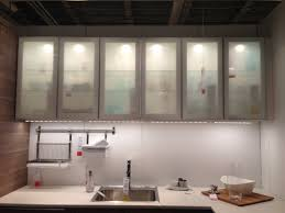 ikea cabinet frosted glass kitchen home kitchen pinterest