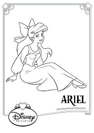 Coloriage Disney Ariel sur la Terre