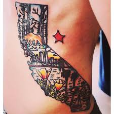 california map tattoo maps of usa