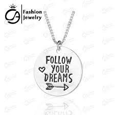 inspirational charms wholesale follow your dearm inspirational charm necklace silver