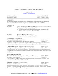 Sample Resume Objectives Pharmacy Technician by Vet Tech Resume Samples Resume For Your Job Application