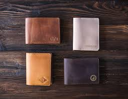 monogrammed anniversary gifts personalized leather wallet mens wallet personalized mens