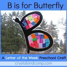 b is for butterfly letter of the week preschool craft butterfly