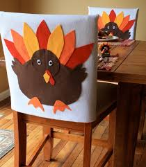 Paper Chair Covers Thanksgiving Chair Decorations Turkey Chair Covers