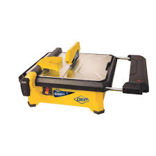 qep 3 4 hp wet tile saw with 7 in diamond blade 22650q the home