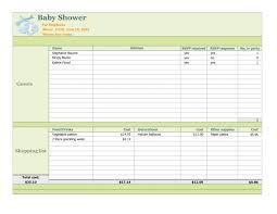 bridal shower planner bridal shower planning spreadsheet wedding ideas