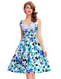 aliexpress com buy floral pattern rockabilly dresses casual