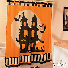 halloween silhouette shower curtain oriental trading discontinued