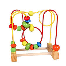 inflated balloons delivered baby mini wooden around wooden toys maze baby intellectual