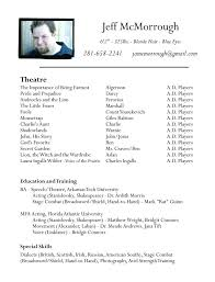 beginning resume talent resume template 10 acting resume templates free samples