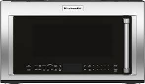 Kitchen Aid Countertop Oven Kitchenaid 1 9 Cu Ft Convection Over The Range Microwave With