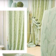 leaf green curtains country style 2016 new arrival no valance