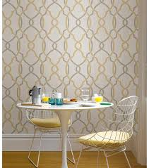 Woodland Forest Peel And Stick Wallpops Nuwallpaper Taupe Yellow Sausalito Peel Stick