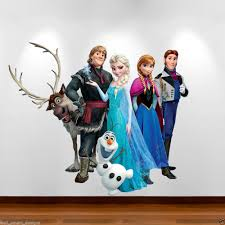 frozen cast full colour wall art sticker decal transfer girls boys frozen disney personalised birthday card large free envelope any name age