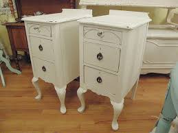 bedroom amusing antique shabby chic nightstand pair white