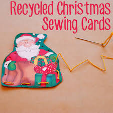 christmas ideas recycled sewing cards sewing cards christmas