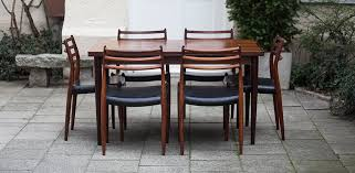 Rosewood Dining Room by Niels Otto Moeller Danish Rosewood Dining Room Table Schlicht