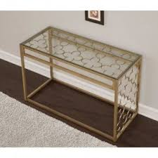 Metal And Wood Sofa Table by Metal Glass Sofa Table Foter