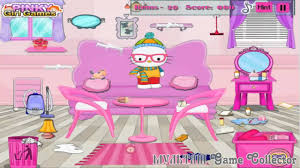 hello kitty winter room cleaning new game зимняя уборка комнаты