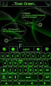 go keyboard theme apk toxic green go keyboard theme android apps on play