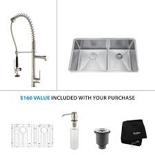 stainless steel kitchen faucets faucet khu103 33 kpf1602 ksd30ss in stainless steel