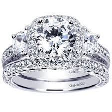 diamond wedding rings vintage halo 3 plus 2cttw diamond engagement ring mullen