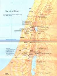 New Testament Map Life Events And Ministry Of Jesus U2013 Map Jesus Reigns