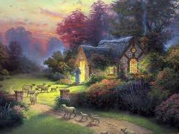the shepherd s cottage by kinkade