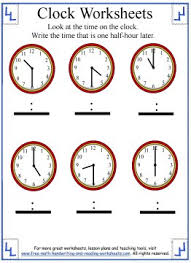telling time half hour telling time worksheet elapsed time