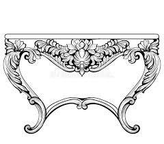 imperial baroque console table luxury carved ornaments