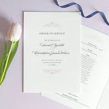 Wedding Booklets Eva Wedding Order Of Service Four Page Booklet By Project Pretty