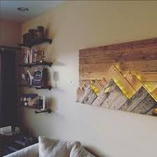 mountain wall wood wooden mountain range wall by 234woodworking on etsy more