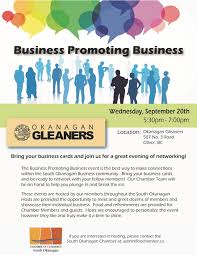 Best Way To Make Business Cards South Okanagan Chamber Of Commerce Business Promoting Business