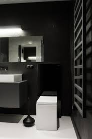 black furnishing ideas to fill the extensive living spaces awesome black and white bathroom design in modern apartment applied black floating vanity and white bath