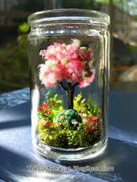 cherry blossom birthstone decor miniature garden by phoenixchiu