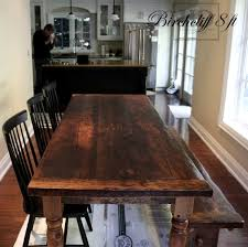 harvest dining room table reclaimed wood harvest table with epoxy polyurethane finish in