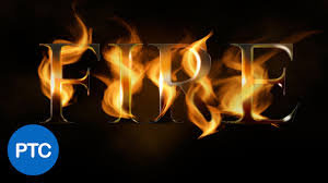 create a fire text effect in photoshop