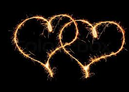 heart sparklers two hearts sparkler stock photo colourbox