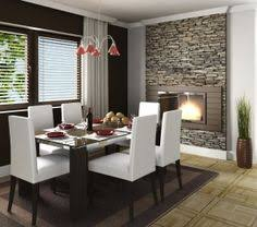 Fireplace Wall Tile by Half Wall With Stone Fireplace Fireplace For Dining Room